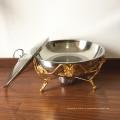 Подогреватель еды Buffte нержавеющей стали 8L покрытый / блюдо горячего бака ссаживая розовое золото