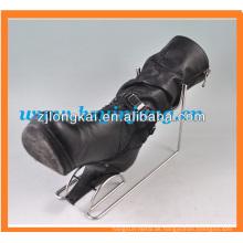 Verchromter Supermarkt Schuh-Rack Display für Stiefel und Schuhe