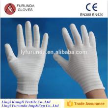 13 Gauge U3 ESD Handschuhe mit PU Palme beschichtet, statische Handschuhe