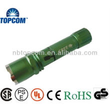 Zoom high power adjustable cree led police military flashlight