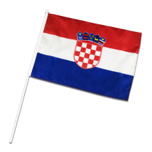 Custom all countries of the world hand flag Croatia National Day table banner china factory Croatia promotion flying flag