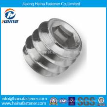 DIN913 Parafuso de fixação hexagonal de aço inoxidável com ponto de copo