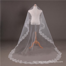 2017 Cathedral Wedding Bridal Veils Long Lace