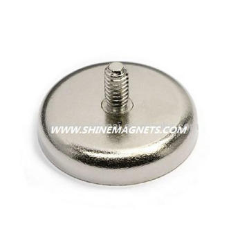 Fashinable Sinterizado NdFeB Perfect Round Base Imanes con Thread out