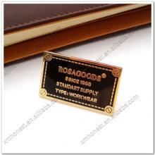 Étiquette métallique personnalisée