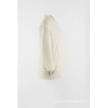 Weißer Kunstpelz warm Mantel