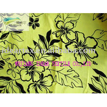 Slub Satin Flocked Fabric for Cushion Cover