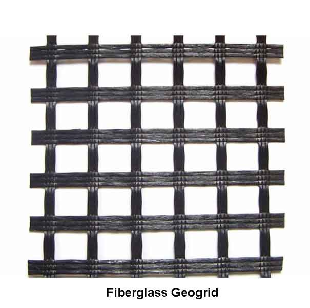 Asfalt Pavement Coated Fiberglass Geogrid
