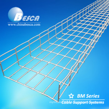 BESCA Factory specialized in Rejilla Wire Mesh Cable Trays with Wall Mounting Bracket (CE,UL)