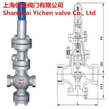 Soupape de réduction de pression de vapeur à piston pilote à filetage intérieur