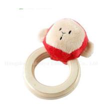Factory Supply Baby Stuffed Peluche Handbell Rattle Toy