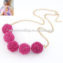 Fashion spray painting choker metal chain ball necklace