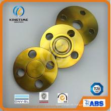 Reborde forjado de brida ciega de acero al carbono ASME B16.5 A105 con revestimiento amarillo (KT0214)