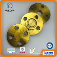 ASME B16.5 A105 Carbon Steel Blind Flange Forged Flange with Yellow Coating (KT0214)