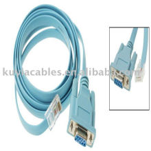 DB9 female to RJ45 Male cable Ethernet Extension Cable Blue