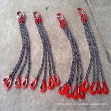 Élingues de chaîne de levage avec le crochet de lien