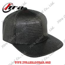 Casquette de baseball en cuir noir et blanc Lizard Allover Pattern