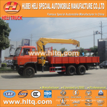 DONGFENG 6x6 12 tons straight arm truck mounted crane 190hp hot sale