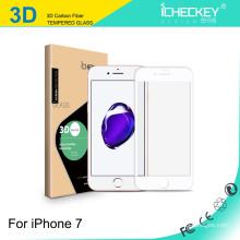 Screenguard de alta qualidade para iPhone 7/7 Plus HD VIDRO / 2.5D cobertura completa de impressão de seda / borda de fibra de carbono 3D macio / 3D curvo