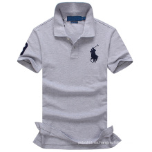 Camiseta al por mayor del polo del logotipo del bordado del OEM para el fabricante profesional de los hombres