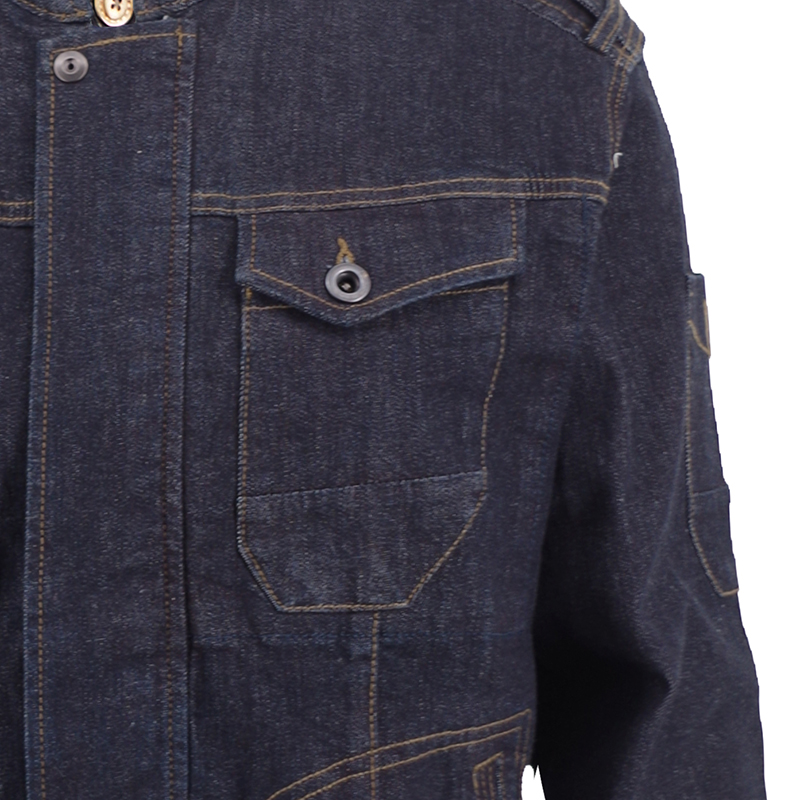 Zip Collar Multi-lined Denim för Man & Woman