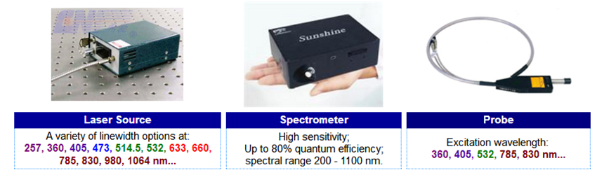 Composition of Raman Spectrometer
