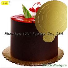Forme ronde avec fleur bordée pour les conseils de gâteau ondulés de gâteau de mousse avec Sfgs (B & C-K041)