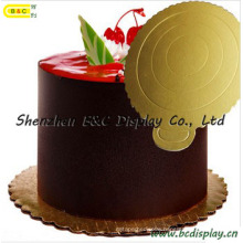 Round Shape with Flower Edged for Mousse Cake Corrugated Cake Boards with Sfgs (B&C-K041)