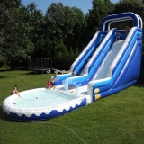 used pvc tarpaulin inflatable water slide clearance for sale