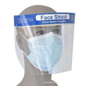Máscara facial quirúrgica desechable con protector antiniebla
