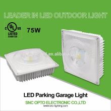 Luminarias de garaje de estacionamiento de 75W LED para reemplazar el haluro de metal de 250W