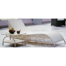 Silla de mimbre al aire libre tabla moderna Chaise Lounge