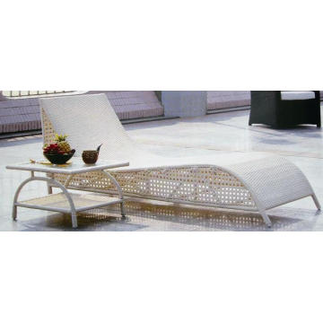 Outdoor Rattan Table Modern Chaise Lounge Chair