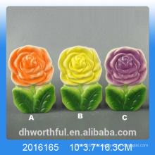 Bunte Blumen-Design Keramik Luftbefeuchter für Zimmer