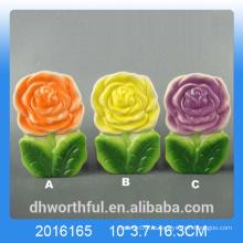 Красочный цветочный дизайн керамический увлажнитель воздуха для комнаты