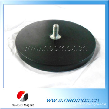 Holding magnet Neodymium 88mm M8x15 Rubber Coated magnet mount