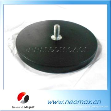 Держатель магнита Неодим 88мм M8x15 с резиновым покрытием