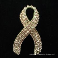 Broche de cristal da letra da noiva da forma da venda por atacado quente para o casamento