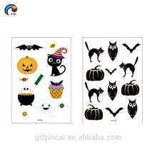 Adorável personalizar tatuagem temporária de Halloween