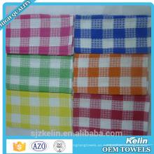 Toalla de té barata de la toalla de la cocina de la toalla de cocina púrpura agradable de la toalla al por mayor