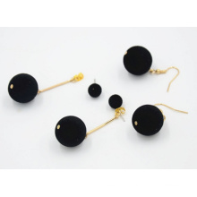 Brincos simples moda Coreia pele feminina local bola
