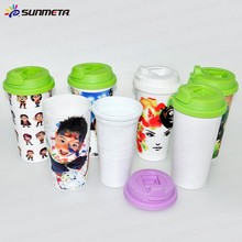 FreeSub Sublimation Printing Plastic Double Wall Mug