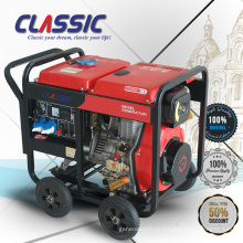 CLASSIC CHINA 3KVA 5HP Diesel Generator Single Phase 220V Generator, Open Frame Certified 3kw Diesel Generator für Auto