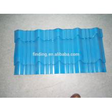 Hangzhou color acero hoja revestida de azulejo de azotea de la hoja de acero acanalada acero