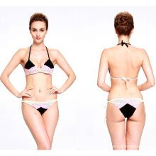 Mão Crochet Swimsuit Bikinis Swimwear Maiô Beachwear para Lady Girl