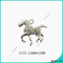 Collar de caballo de aleación de zinc de tono plateado (SPE)