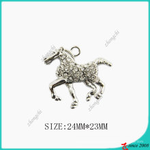 Silver Tone Zinc Alloy Horse Necklace (SPE)