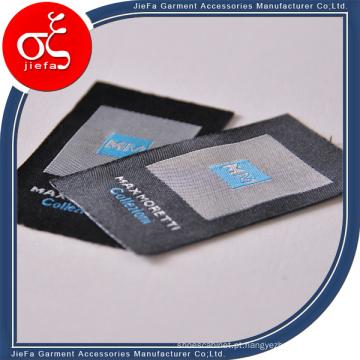 Design de etiqueta tecida de t-shirt de vendas por atacado, etiquetas de roupas personalizadas para jeans / t-shirt