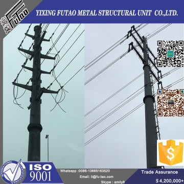 Electric steel poles transmission tower lines