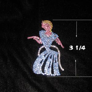 Crystal Princess Brooch Sash Pins